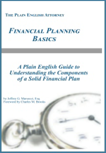 financial planning basics book by Jeffrey G. Marsocci Estate Planning Attorney