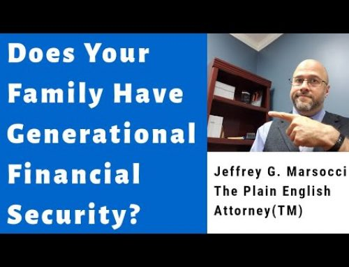 Does Your Family Have Generational Financial Security?
