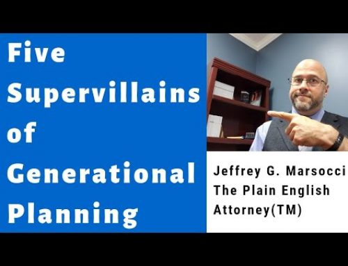 The Five Supervillains of Generational Planning