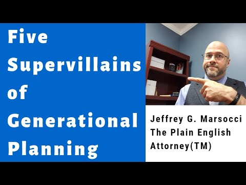 5 Supervillains of Generational Planning