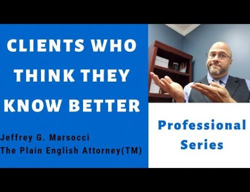 Clients Who Think They Know Better