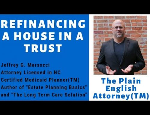 Refinancing a House in Trust
