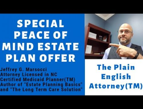 Special Peace of Mind Estate Plan Offer