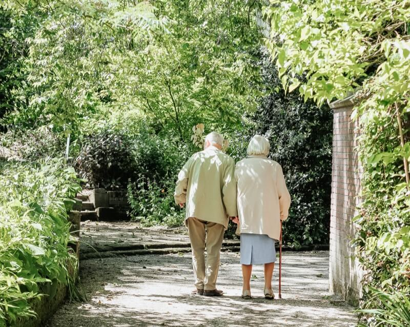 Elderly Couple Walking - Medicaid GamePlan