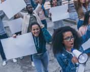 Girl Yelling Thru Megaphone