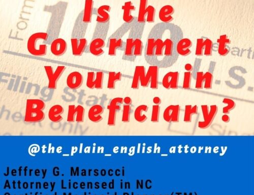 Is the Government Your Main Beneficiary?